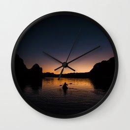 Sunrise Kayak Wall Clock