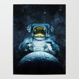 Reach for the Moon Poster