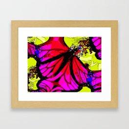 Purple Wings Framed Art Print