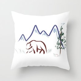 Mountain Air II Throw Pillow