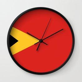 East Timor-Leste Flag Wall Clock