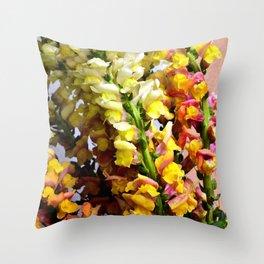 Snap Dragon Flowers / Milan -Italy Throw Pillow