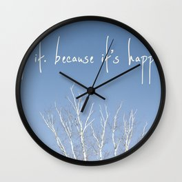 perks of being a wallflower - life is happening Wall Clock