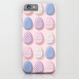 Polka Dots Easter Egg Pattern iPhone Case