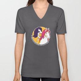 Funny Unicorn Saying Unicorns Fun Gift Unisex V-Neck