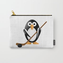 Penguin with a hokey stick Carry-All Pouch