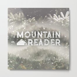 Mountain Reader Metal Print