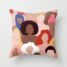 Who run the world? Throw Pillow