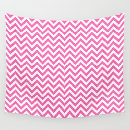 Creamy Pink and White Chevron Wall Tapestry