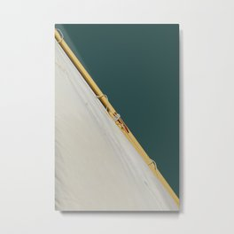 Sail on Tidewater green background Metal Print