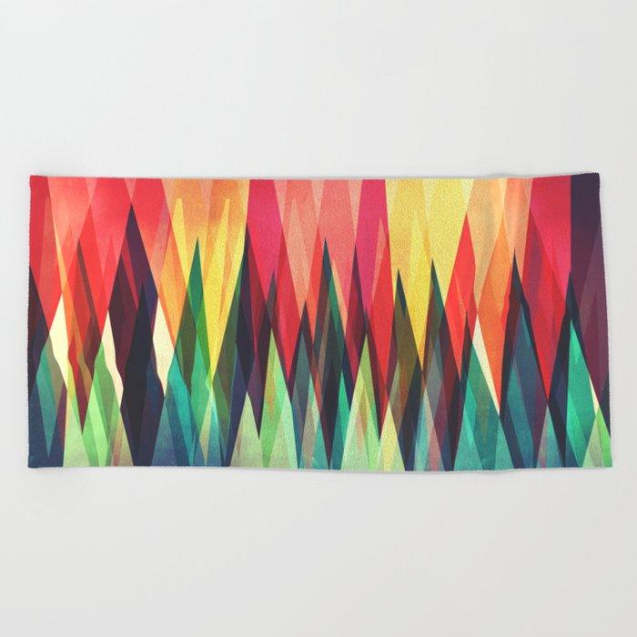 Mountain Sunset Beach Towel