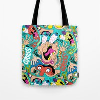 weird Tote Bags featuring Weird Pattern by Chris Piascik
