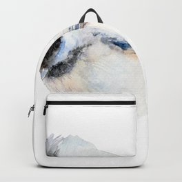 Watercolor Coal Tit Painting Backpack