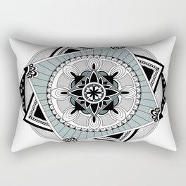 Hypnotic Mandala Rectangular Pillow