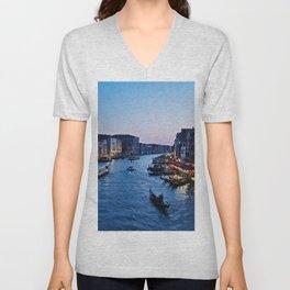 Venice at dusk - Il Gran Canale Unisex V-Neck