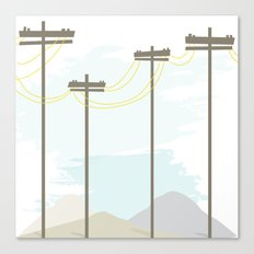 Power in the mountains Canvas Print