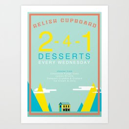 Two For One Desserts Art Print