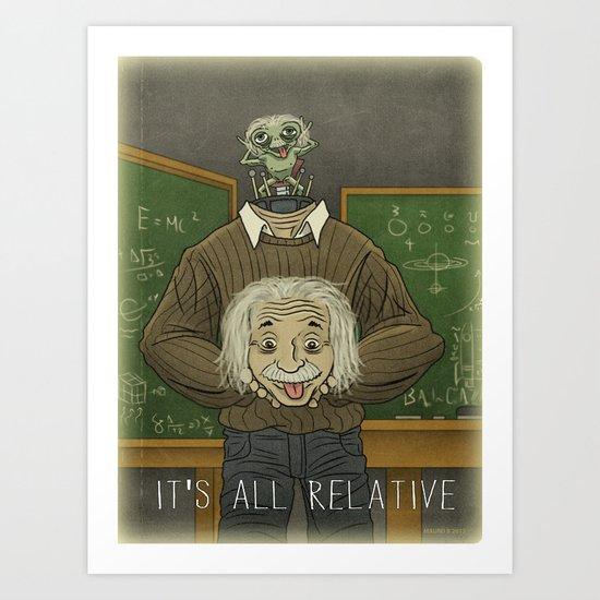Einstein...Physicist, Scientist, ...Arquillian Art Print