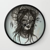 witch Wall Clocks featuring witch by ASTRA ZERO