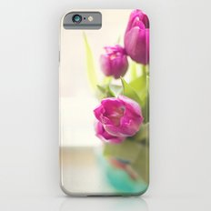Purple Tulips in a jar iPhone 6s Slim Case