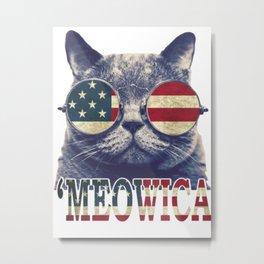 4th of July MEOWICA Metal Print