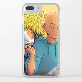 Lazy Sunday with Sensei Clear iPhone Case
