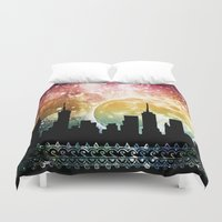 moonrise Duvet Covers featuring Moonrise by Jenndalyn