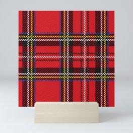 red kilt Mini Art Print