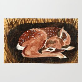 Before the First Snow (Fawn/ White tailed Deer) Rug