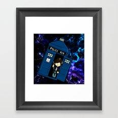 Tardis in space Doctor Who 2 Framed Art Print