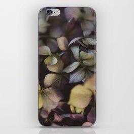 Pale purple hydrangea pattern iPhone Skin