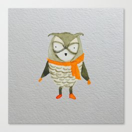 Wise Owl Forest Friends Baby Animals Canvas Print