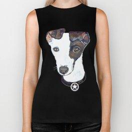 Greyhound Portrait Biker Tank