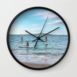Mission Bay Beach, Auckland Wall Clock