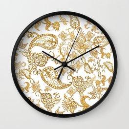 India henna pattern Wall Clock