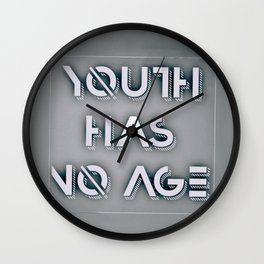 Youth has no age Pablo Picasso quote Wall Clock