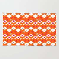 bows Area & Throw Rugs featuring Beads & Bows by fable design
