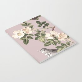 Birds and the Bees Pink Berry Notebook