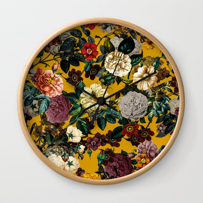 Exotic Garden V Wall Clock