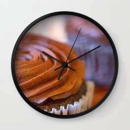 Sweet Dreams Chocolate Cupcakes Wall Clock