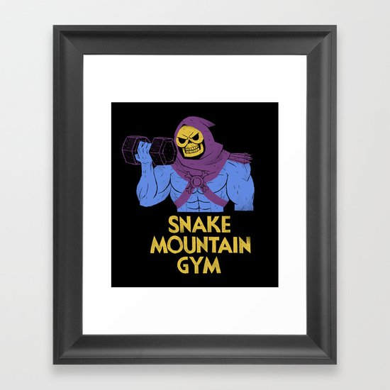 snake mountain gym Framed Art Print