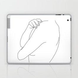 Nude figure line drawing illustration - Ember Laptop & iPad Skin