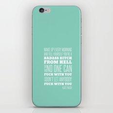 WAKE UP- Green iPhone & iPod Skin