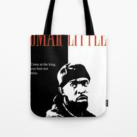 scarface Tote Bags featuring Omar Little [Scarface] The Wire by D-fens