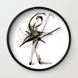 Dance Drawing Wall Clock