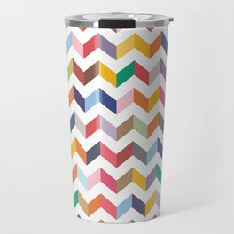 Aztec Geometric Chevron Pattern Travel Mug