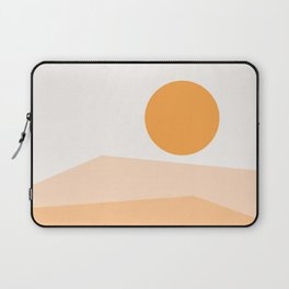 Abstract Landscape 09 Orange Laptop Sleeve
