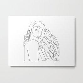 La Femme Qui Aime Sa Mélanine Metal Print