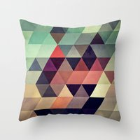 patterns Throw Pillows featuring tryypyzoyd by Spires