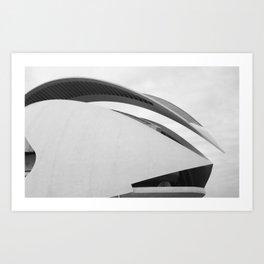 City of Arts and Sciences V by CALATRAVA architect Art Print